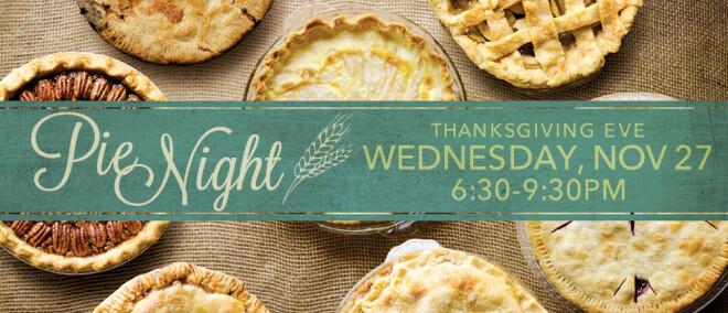 Pie Night & Food Donation Drive