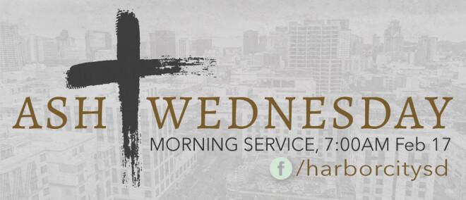 Ash Wednesday MORNING Service